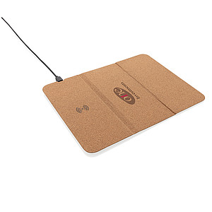 5W wireless charging cork mousepad and stand