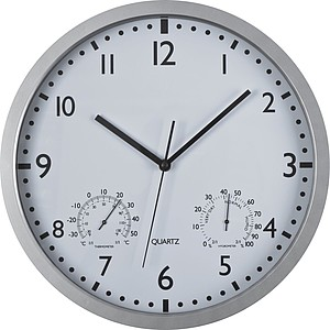 Wall clock, white display