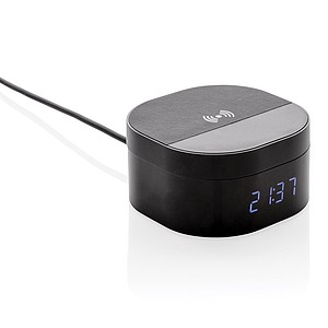Aria 5W Wireless Charging Digital Clock,black