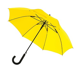 "Automatic windproof stick umbrella ""Wind"",colour yellow"