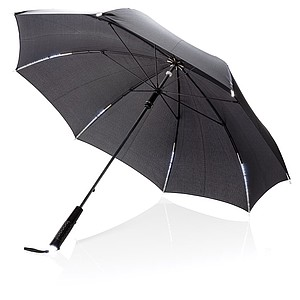 "23"" manual open/close LED umbrella,black"