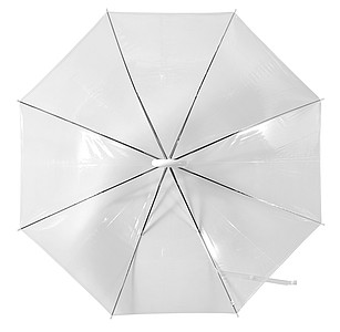 Transparent umbrella.White
