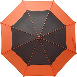 Pongee (190T) umbrella with eight panels. Fibreglass frame and EVA handle. Stormproof.