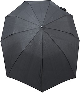 Pongee (190T) automatic umbrella with eight panels.