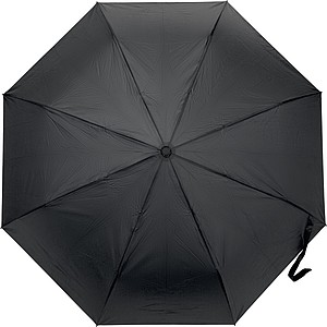 Pongee (190T) automatic, foldable umbrella with eight panels.