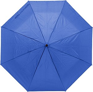 Pongee (190T) umbrella with eight panels. Metal shaft and ribs.