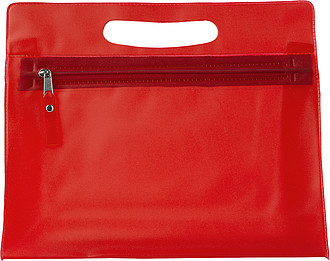 Frosted toilet bag.Red