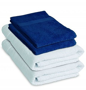 VS DEORIA 4 set of two blue terry towel and two white bath towel, 530g