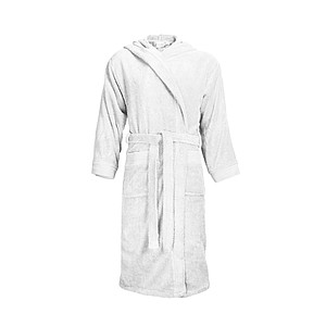 Bathrobe Hooded White, L/XL, 420 gr/m2
