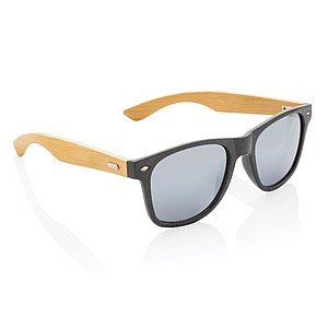 Wheat straw and bamboo sunglasses,black