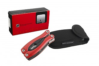 SCHWARZWOLF ARMADOR NEW, red, 15-in-1 multitool