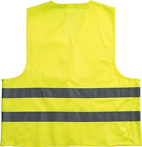 Promotional safety jacket for children.Yellow
