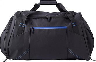 Polyester (300D) sports bag with pockets on both sides, the front, and back.