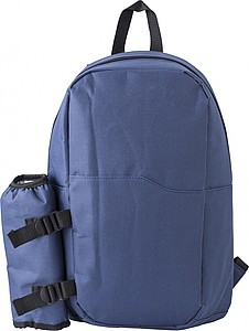 Polyester (600D) cooler backpack with PEVA interior lining.