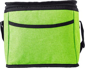 Polycanvas (600D) cooler bag with PEVA interior lining.