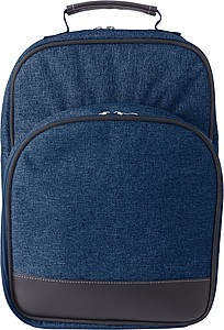 Polycanvas (600D) picnic cooler backpack with aluminium foil lining.