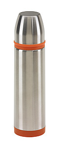 Stainless steel vacuum flask, capacity approx. 500 ml,colour silver, orange