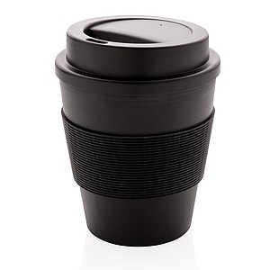Reusable Coffee cup with screw lid 350ml,black