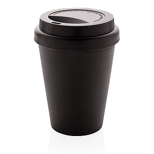 Reusable double wall coffee cup 300ml,black