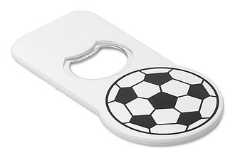 Football opener with magnet, white