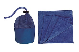 "Microfibre cloth ""Cleaner"",colour blue"