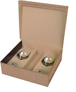 VS PAPUA gift box with two red wine glasses