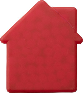 House shaped mint card.Red