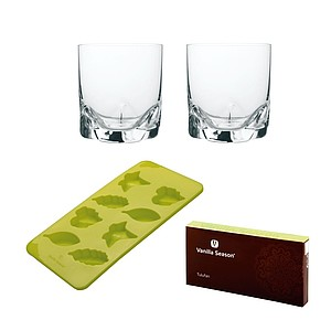 VS TULUFAN Silicone mould set with 2 glasses, green