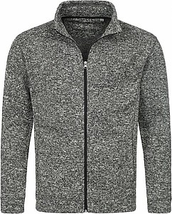 Stedman Active Knit Fleece Jacket Men dark grey melange L