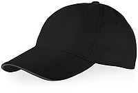 Garnet 5-Panel Sandwich Cap, black