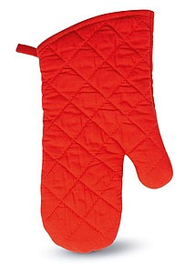 Cotton oven glove, red