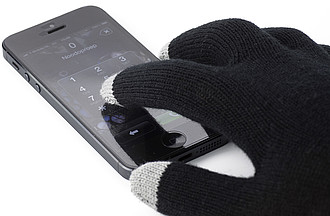 Gloves for capacitive screens.Black