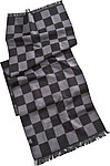 Scarf with chess pattern