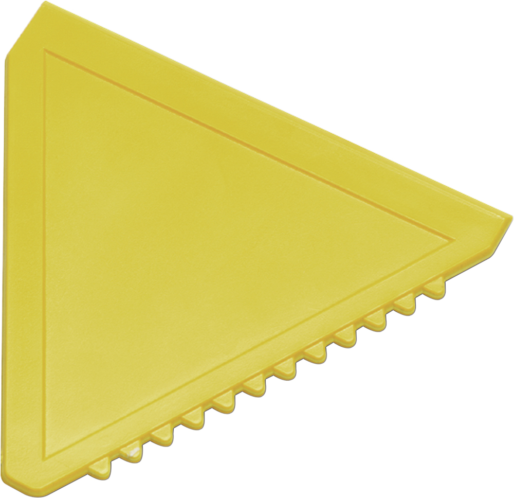 Triangular plastic ice scraperYellow | iMi Partner a s