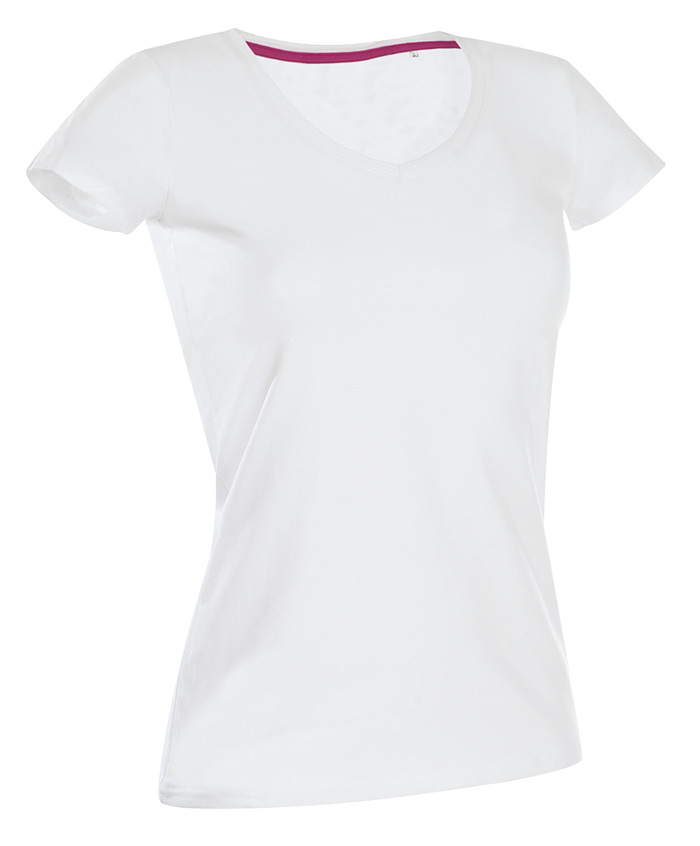 Stedman Womens Shor Sleeve Claire Neck Tape Body Fit Ladies Tshirt