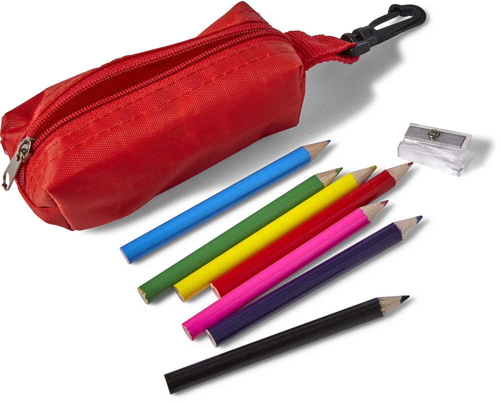 eight pencils pencil sharpener and pouch imi partner a s the search engine of promotional products